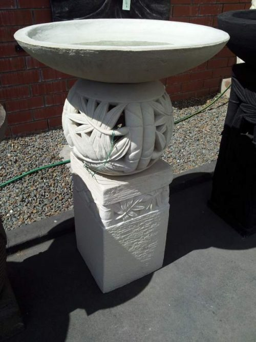 Bamboo Bird Bath