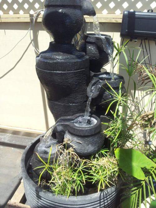 Pots Column Lava Stone
