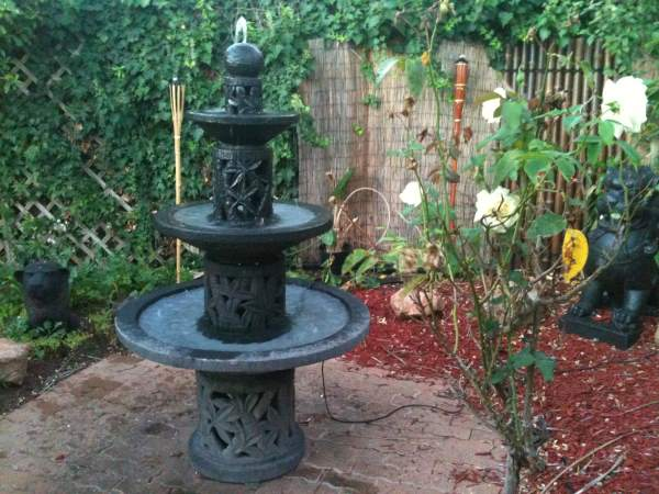 Bamboo Fountain, 3 Tier Large