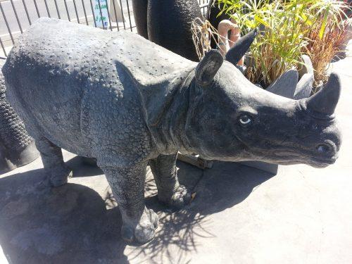 Rhino Baby Statue