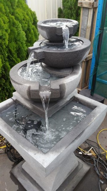 Pot to Pot on Modern Stand Water Feature