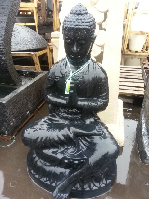 Sitting Buddha Under Leg Water Feature from Head