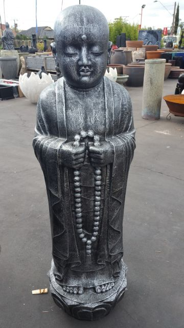 Monk, Standing With Beads