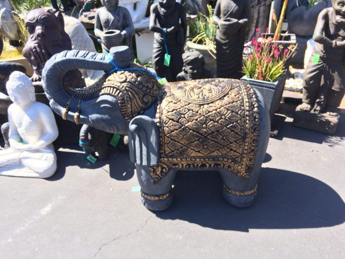 Elephant with Blanket Statue