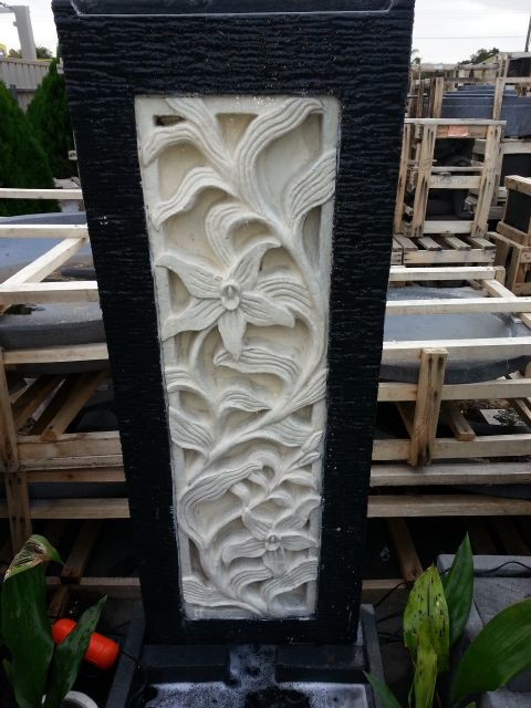 Panel with Carved Insert Water Feature