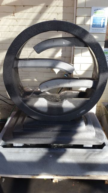 Water Wheel with Stepping Plate Large Water Feature (Concrete)