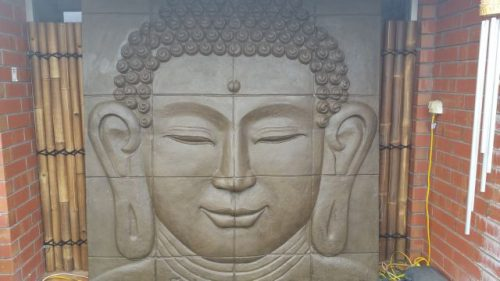 Large Buddha Wall Panel (ears)