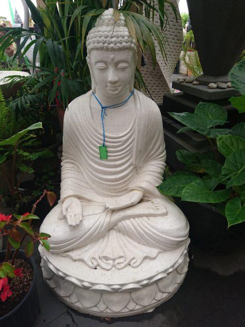 Buddha Sitting on Lotus with Palm up