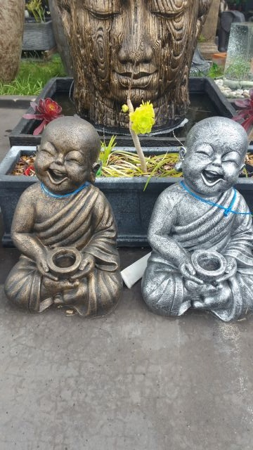 Monk, Child Monk Smiling with Bowl