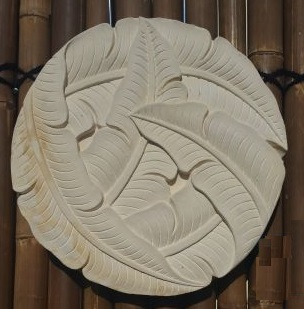 Hand Carved Round Banana Leaf Hanging