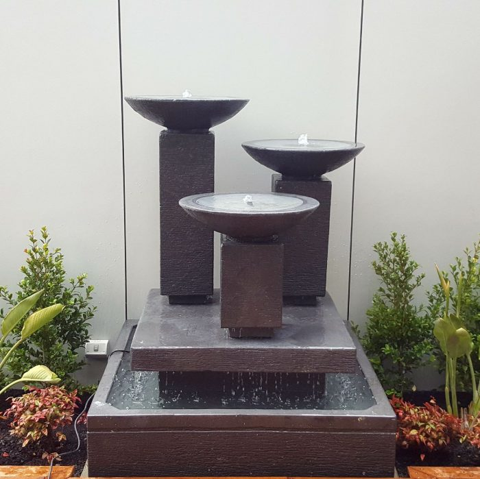3 Bowls on Columns, Water Feature