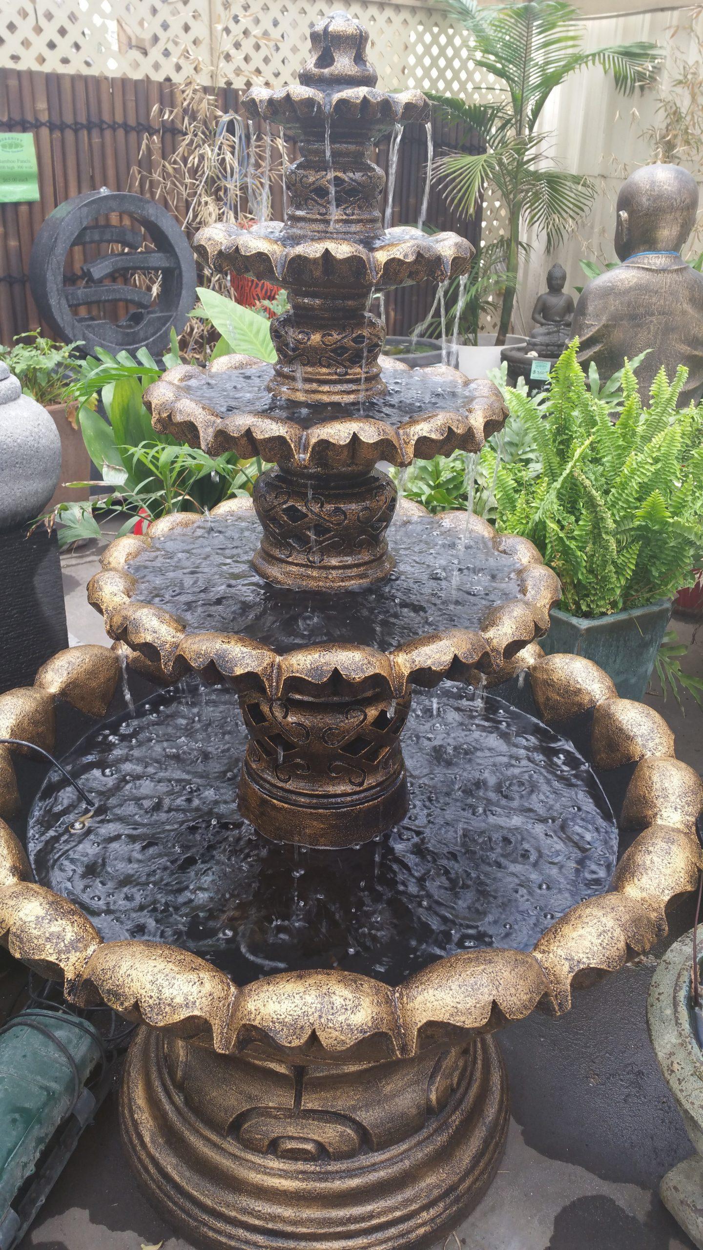 Five Tier Fountain (Black Bronze)