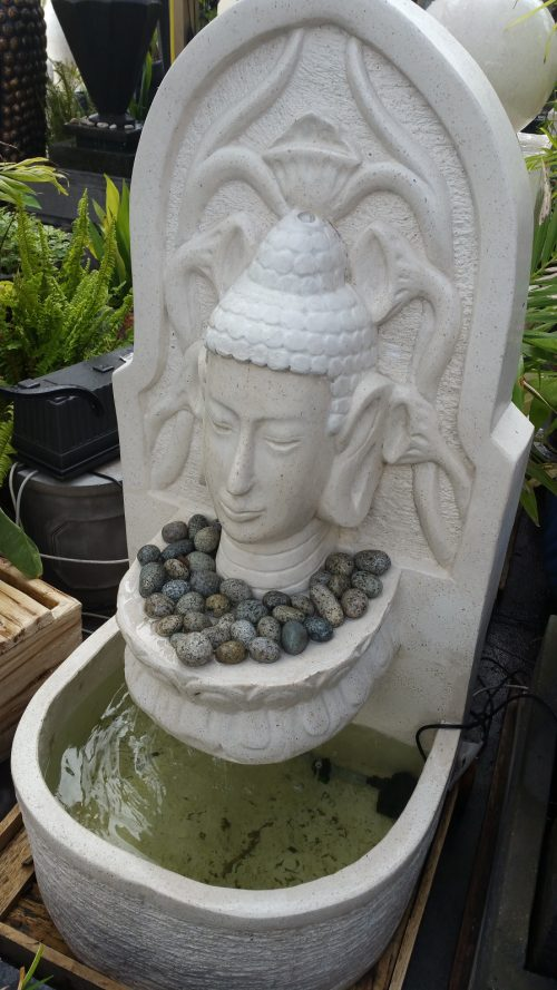 Buddha Wall with Bowl Water Feature
