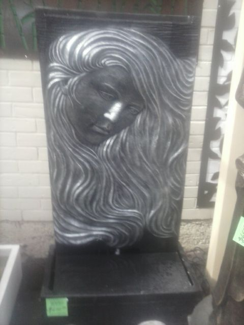 Lady with Flowing Hair Water Feature