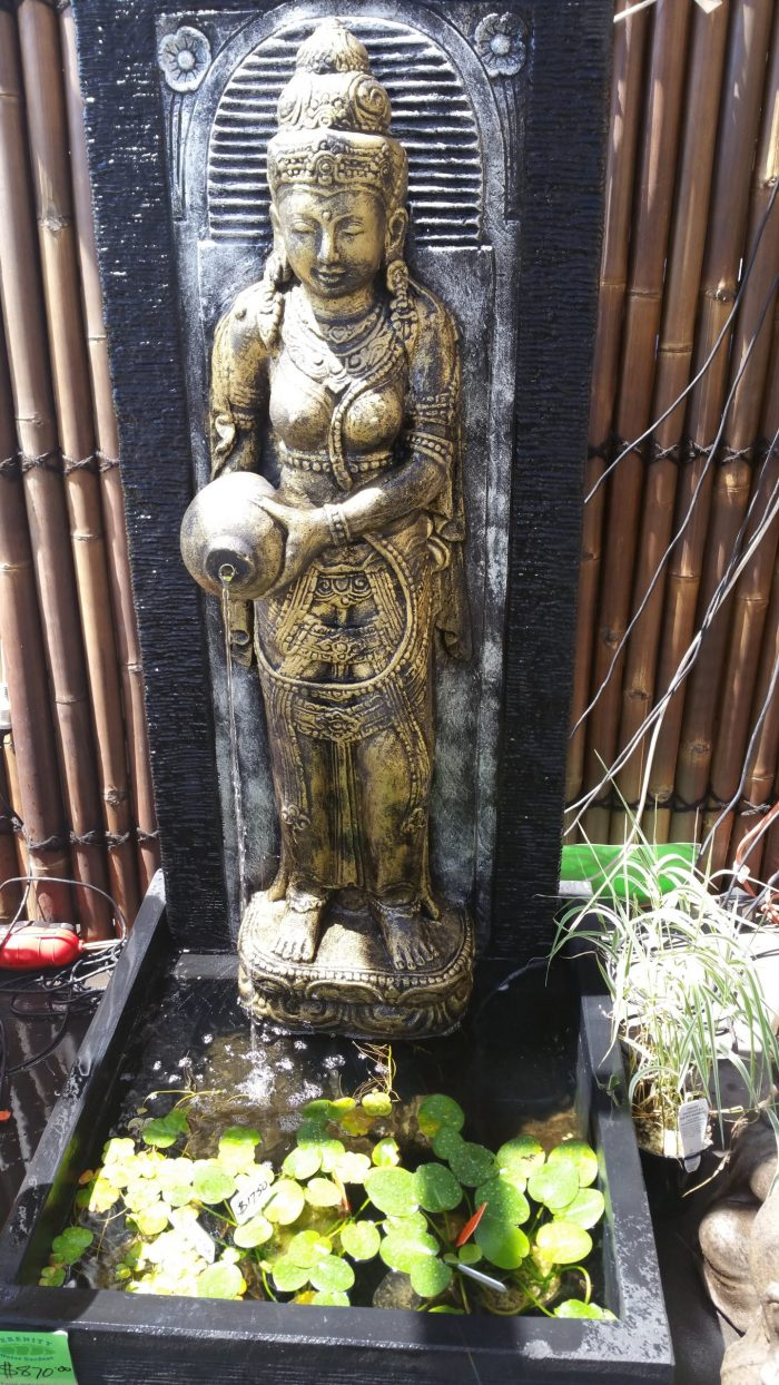Dewi With Jug Panel Water Feature