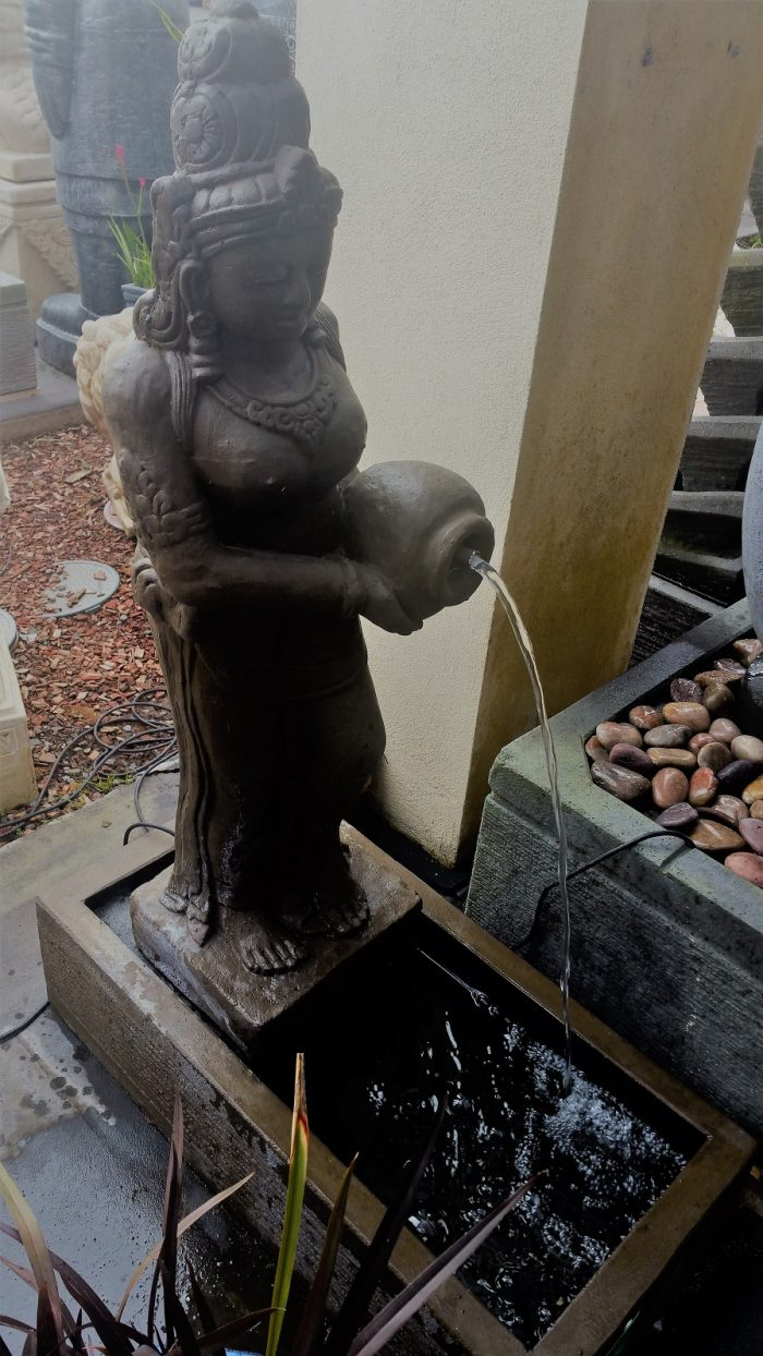 Dewi Sri Standing Water Feature with base