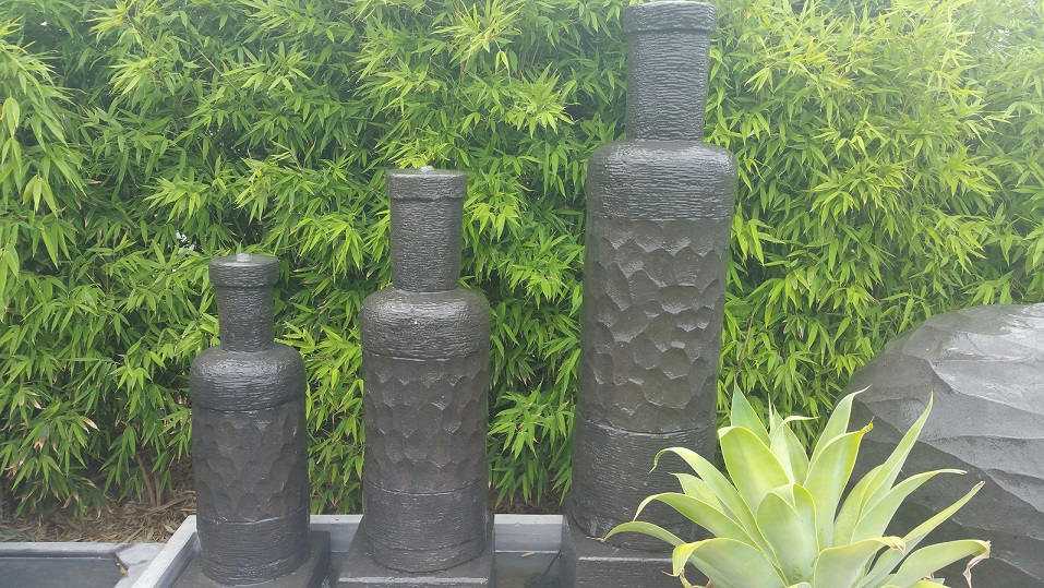 Triple Standing Bottles Water Feature