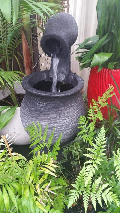 Jug to Pot Water Feature on Stand