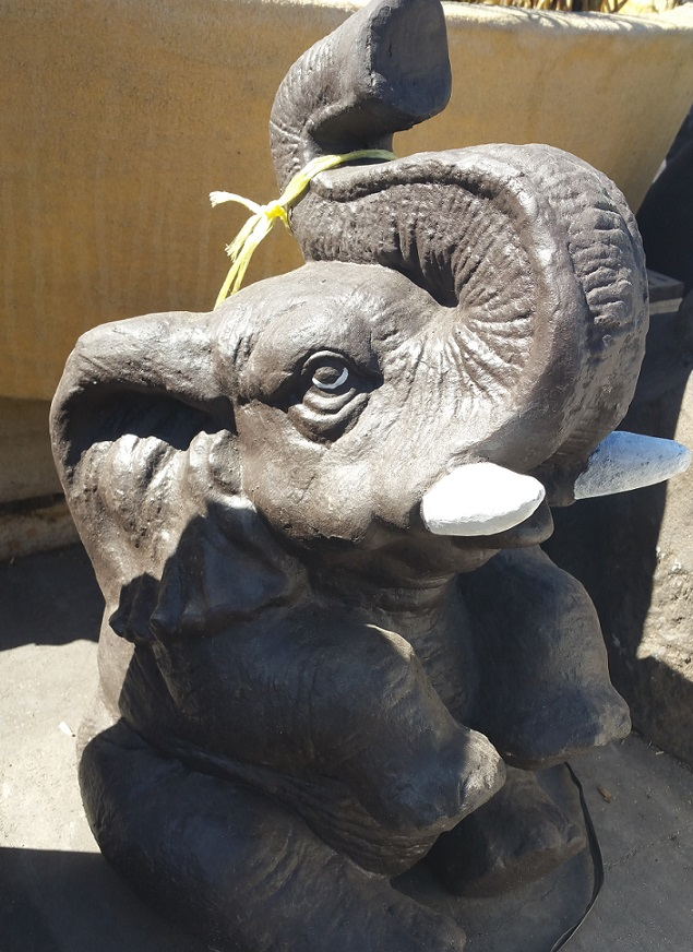 Elephant:  Sitting Elephant Water Spitter (Small)