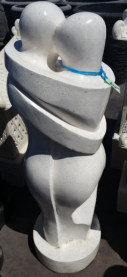 Abstract Hugging Statue