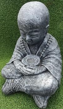 Monk Begging Concrete
