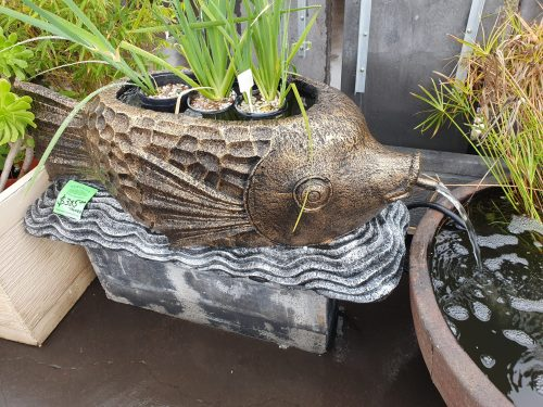 Fish:  Fish Spitter with Bowl for Water Plants